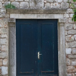 Door in the University of Dubrovnik