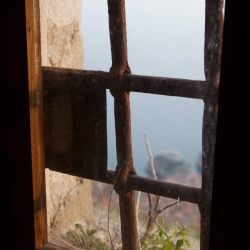 Looking out the fort on Mount Srd