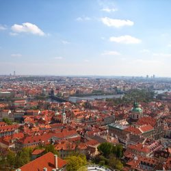 View of Prague from the top of the St. Vitus Cathedral, Prague Castle