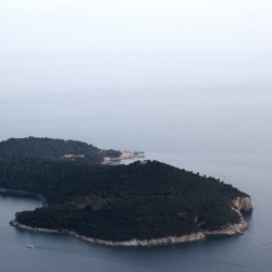 View of Lokrum Island from Mount Srd