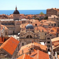 View of the city from the wall surrounding Dubrovnik
