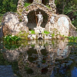 Water feature in Trsteno Arboretum